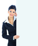 Smiling young business woman Stock Photography