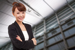 Smiling Young business woman. Royalty Free Stock Photography