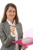 Smiling Young Business Woman Royalty Free Stock Photo
