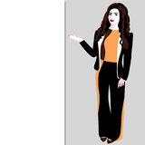 Smiling young business woman vector illustration