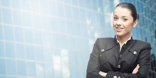 Smiling young business woman Royalty Free Stock Photography