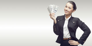 Smiling young business woman Stock Images