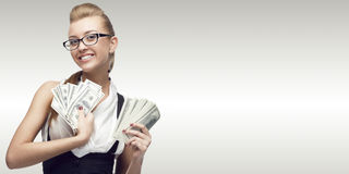 Smiling young business woman Royalty Free Stock Image