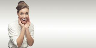Smiling young business woman Royalty Free Stock Photos