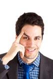 Smiling young businessman Stock Photos