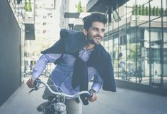 Bike to work. stock images