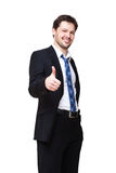 Smiling young businessman Stock Images