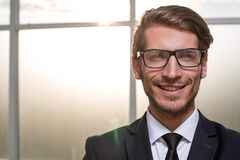 Smiling young businessman. royalty free stock photography