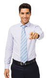 Smiling Young Businessman Pointing At You Royalty Free Stock Image