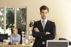 Smiling young businessman Royalty Free Stock Image