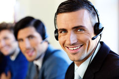 Smiling young businesspeople Stock Photography