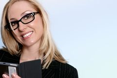 Smiling young businesswoman Stock Photography