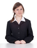 Smiling young businesswoman Stock Photos