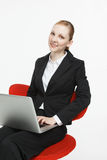 Smiling young businesswoman Royalty Free Stock Photos