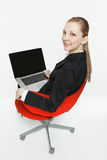 Smiling young businesswoman Stock Image
