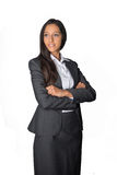 Smiling young businesswoman with folded arms Royalty Free Stock Photo