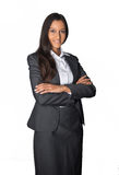 Smiling young businesswoman with folded arms Royalty Free Stock Photography