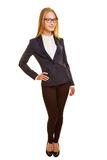 Smiling young businesswoman in full view Royalty Free Stock Image