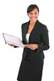 Smiling Young Businesswoman Isolated Royalty Free Stock Photography