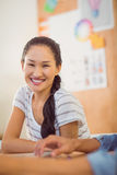 Smiling young businesswoman looking at the camera Royalty Free Stock Photos