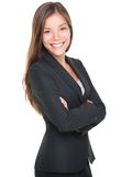 Smiling young businesswoman portrait Stock Image