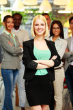 Smiling young businesswoman standing Royalty Free Stock Images