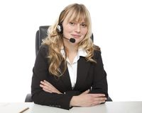 Smiling young call center operator Royalty Free Stock Photography