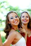 Smiling young caucasian women Royalty Free Stock Photo