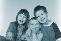 Smiling young children. Happy family Royalty Free Stock Photos