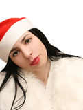 Smiling young christmas woman Royalty Free Stock Photos