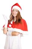 Smiling young christmas woman stock photography