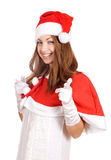 Smiling young christmas woman Stock Images