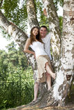 Smiling young couple Royalty Free Stock Images