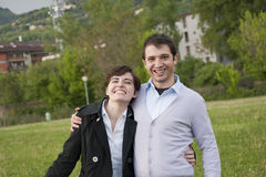 Smiling young couple Royalty Free Stock Photo