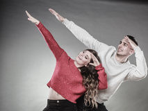 Smiling young couple having fun Royalty Free Stock Photography