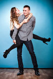 Smiling young couple having fun Royalty Free Stock Photo