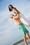 Smiling young couple having fun in summer holiday Royalty Free Stock Photos