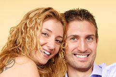 Smiling young couple in love Royalty Free Stock Photo