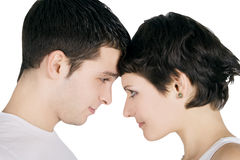 Smiling young couple in love Stock Photo