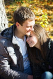 Smiling young couple in love hugging Royalty Free Stock Photo