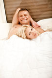 Smiling young couple relaxing Stock Photo