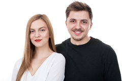 Smiling young couple Stock Image