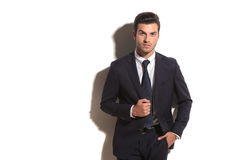 Smiling young fashion business man Royalty Free Stock Image