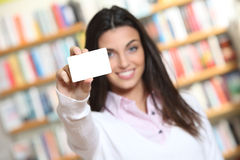 Smiling young female Stock Photography