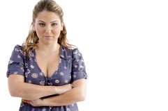 Smiling young female with crossed arms Stock Photo