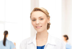 Smiling young female doctor in hospital Royalty Free Stock Image