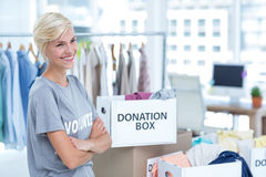 Smiling young female volunteer Royalty Free Stock Photo