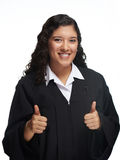 Smiling young girl with thumb up Royalty Free Stock Photos