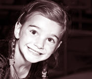 Smiling Young Girl / Tinted stock photography