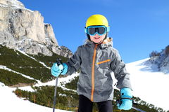 Smiling young girl at winter sport Stock Image